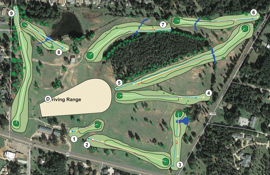 Oaklawn Golf Course Map