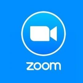 Logo for Zoom virtual video conferencing.
