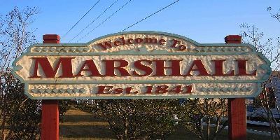 Welcome to Marshall sign